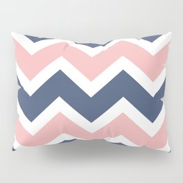 Zig Zag Chevron Pink and blue waves pattern Pillow Sham