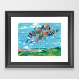 Plane Without Plane Framed Art Print