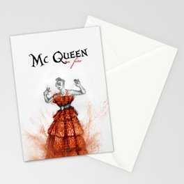 Mc Queen on fire Stationery Cards