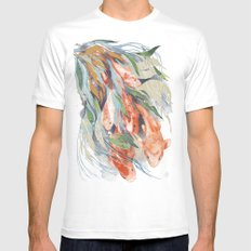 in the waterweeds White MEDIUM Mens Fitted Tee