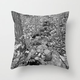 Wall in the Woods Throw Pillow