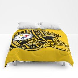 Polynesian style Steelers Comforters