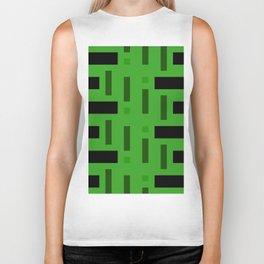 Pattern of Squares in deep Green Biker Tank