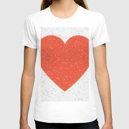 Heart Mosaic Hexagons T-shirt