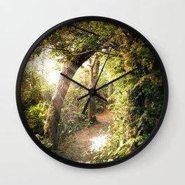 Sunlit Path Wall Clock