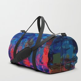 Bright Blues and Pinks Pattern Abstract Duffle Bag