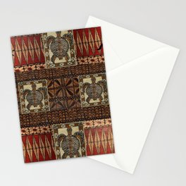 Hawaiian Petroglyph Tapa Cloth Stationery Cards
