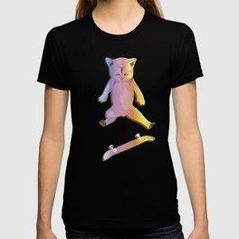 Skater Kitten Kickflip T-shirt