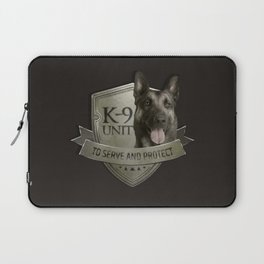 K9 Unit  - Malinois Belgian shepherd -Mechelaar Laptop Sleeve