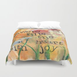 Flowers and Joy by Seattle Artist Mary Klump Duvet Cover