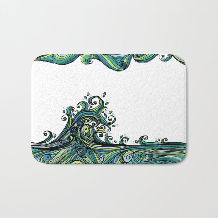 Crashing Wave Tangle Bath Mat
