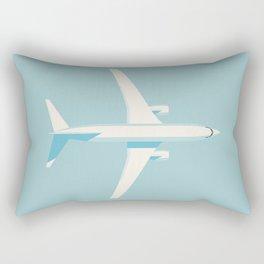 737 Passenger Jet Airliner Aircraft - Sky Rectangular Pillow