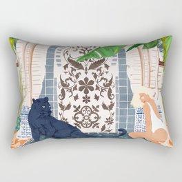 Frienaissance #painting #wildlife #illustration Rectangular Pillow