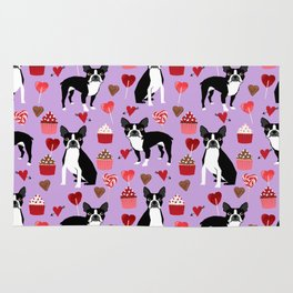 Boston Terrier valentines day cupcakes heart love dog breed must have gifts Rug