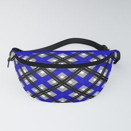 Combo black blue plaid Fanny Pack