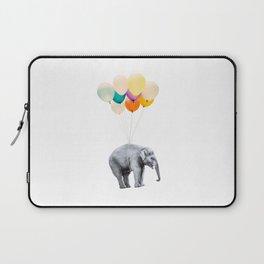 Dreaming Elephant Flying, Animal Zoo Nursery Photo, Large Printable Birthday Party Wall Art, Ballons Laptop Sleeve