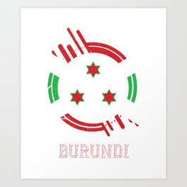 burundi Round Coat of Arms Art Print
