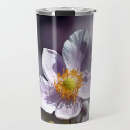 Pretty in White and Purple Travel Mug