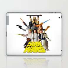 Star War Action Figures Poster - First 12 - Square Laptop & iPad Skin