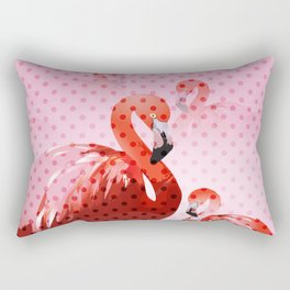 Watercolour Flamingo Pattern Rectangular Pillow