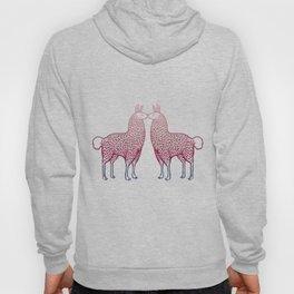 Llamas Kissing Hoody