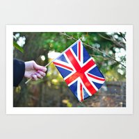 british flag Art Prints featuring British Flag by Blown A Wish Photography