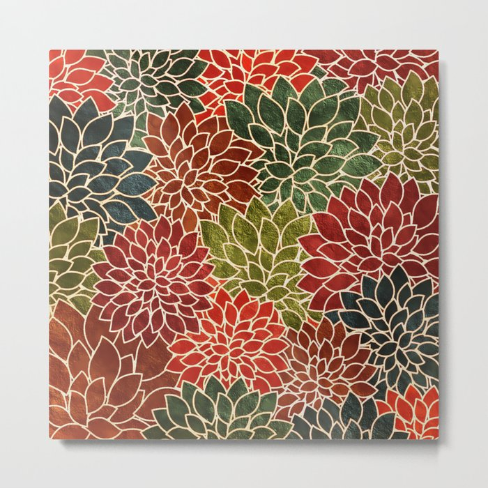 Floral Abstract 7 Metal Print