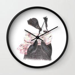 Cozy Badger Wall Clock