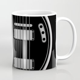 Guitar Yin Yang Gray and Black Coffee Mug