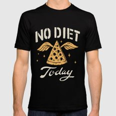 No Diet Today Mens Fitted Tee MEDIUM Black