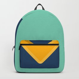 Simple Bling - Modern Bold Abstract Carnival Glass Backpack