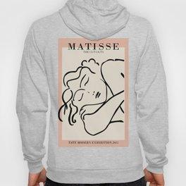 Henri matisse sleeping woman, matisse cut outs, cream and pink Hoody