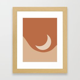 Moonrise Minimalism - Orange Framed Art Print