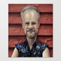 chris evans Canvas Prints featuring  Mark Evans by AndreKoeks