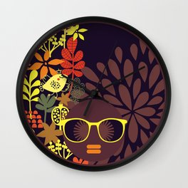 Afro Diva : Sophisticated Lady Deep Wall Clock