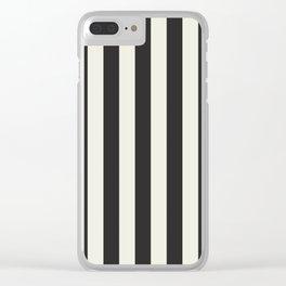 Love stripes (black & cream) Clear iPhone Case