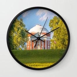 Virginia Charlottesville Lawn Print Wall Clock