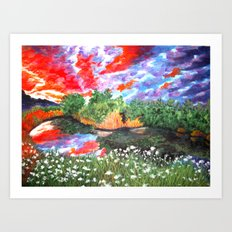 Rainbow Skies Art Print