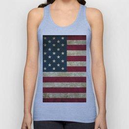 Vintage American flag Unisex Tank Top