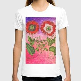 Vintage Botanical Collage - Poppies, Papaver Somniferum T-shirt