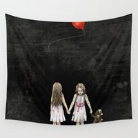 twins Wall Tapestries featuring Twins by JuniperFawkes