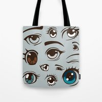 anime Tote Bags featuring Anime by Darish