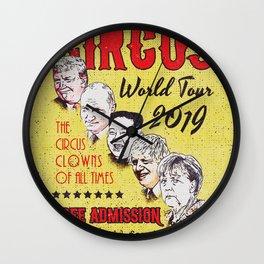 Political Circus Clowns World Tour 2019 Wall Clock