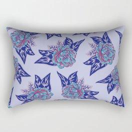 Cabbage Roses in Lavender Rectangular Pillow