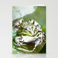 frog Stationery Cards featuring frog by Karl-Heinz Lüpke