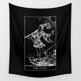 0. The Fool- White Line Tarot Wall Tapestry