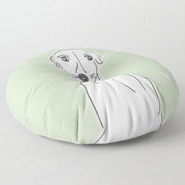 Daisy, the Greyhound Floor Pillow