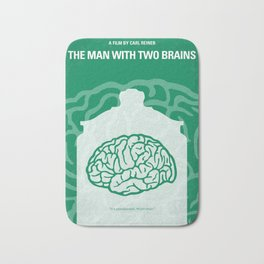 No390 My The Man With Two Brains minimal movie poster Bath Mat
