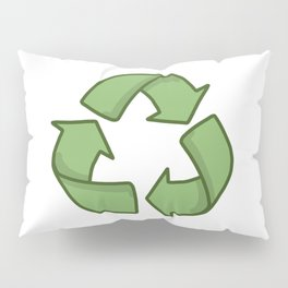 Recycle Symbol Pillow Sham
