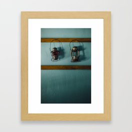 Railroad Lanterns Framed Art Print